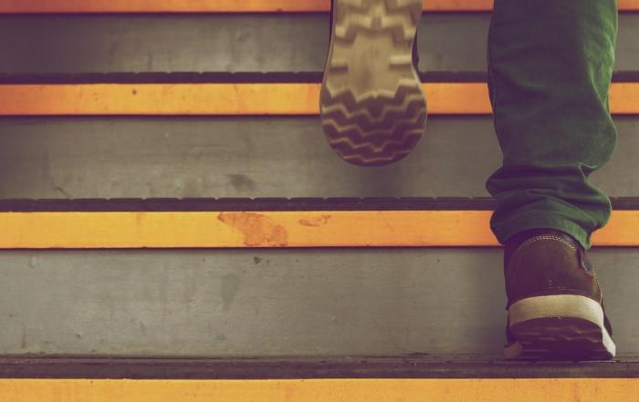 Suksess er byget som trappetrinn